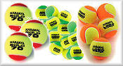 Junior Tennis Balls Sponge,Red, Orange & Green
