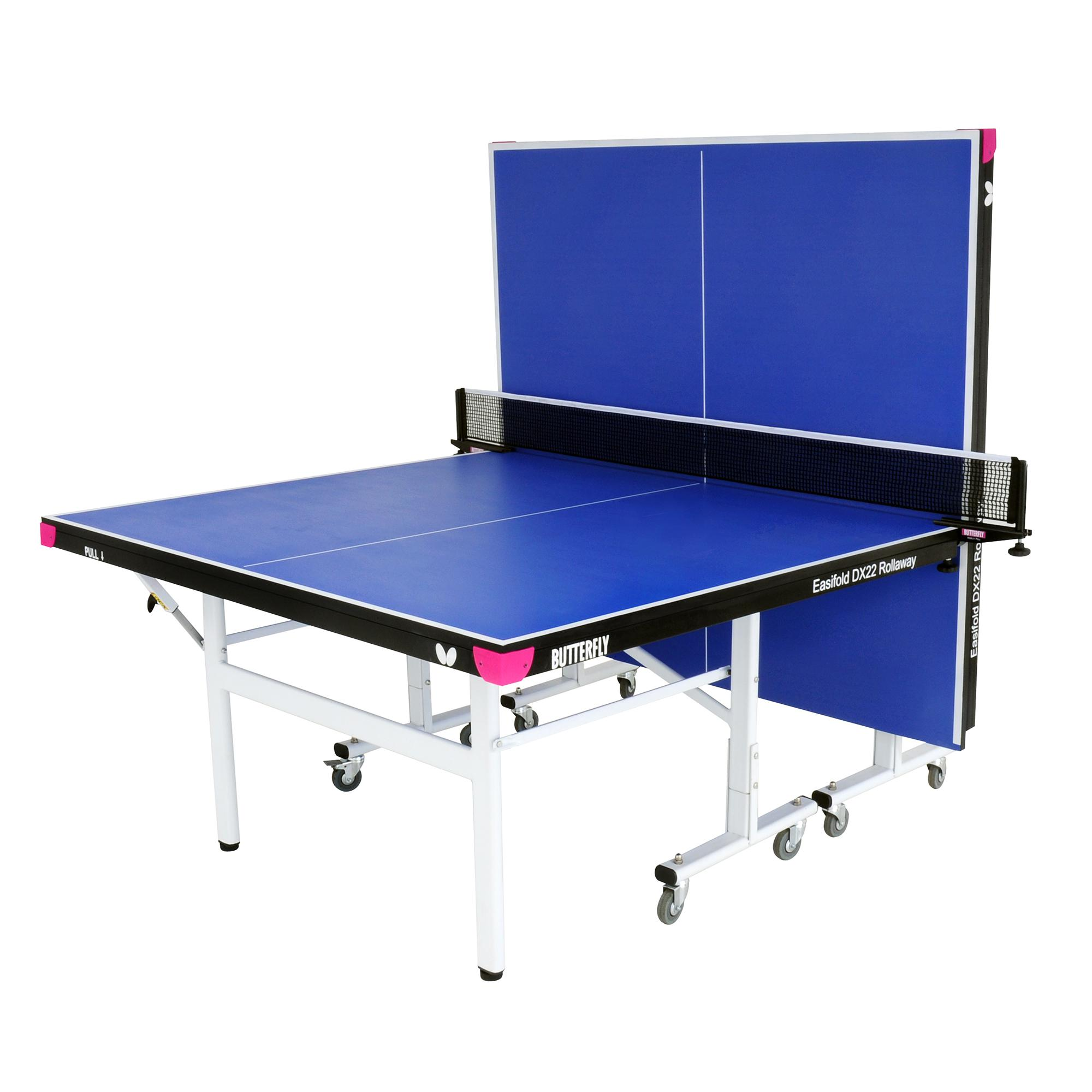 Butterfly easifold deluxe 22mm rollaway indoor table for Table tennis 99