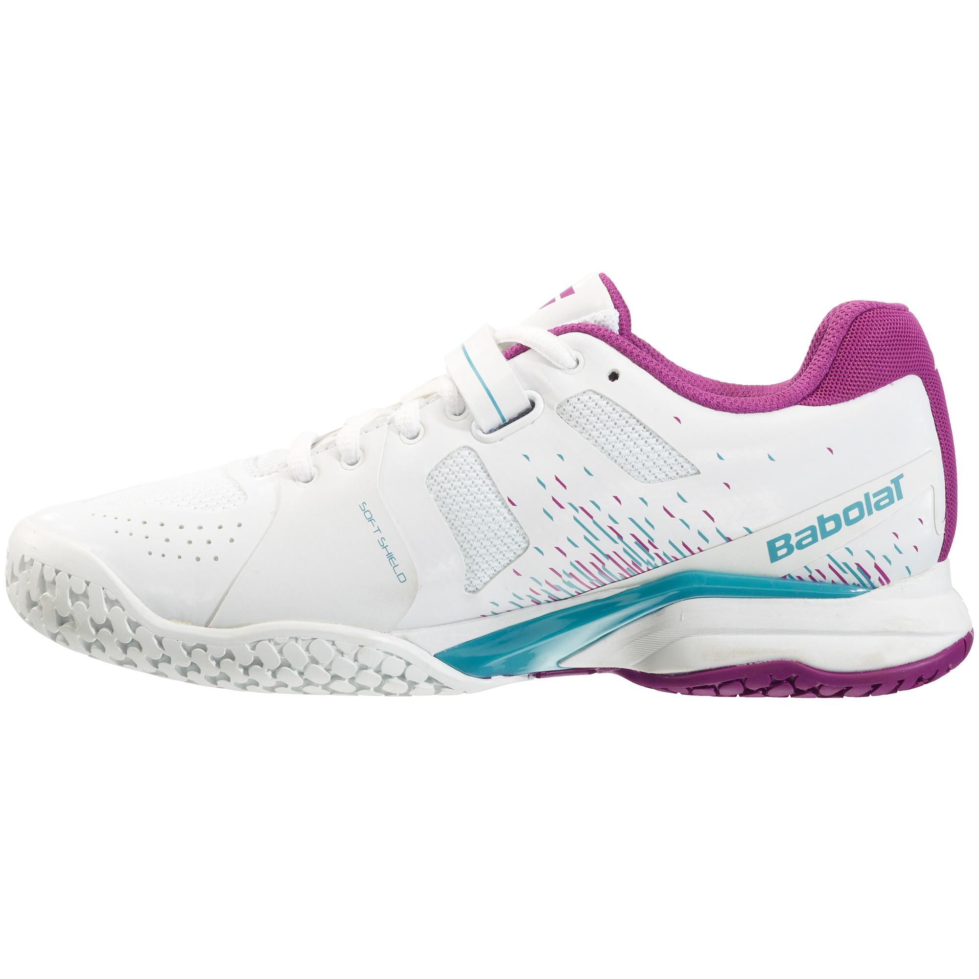 babolat womens propulse all court tennis shoes white