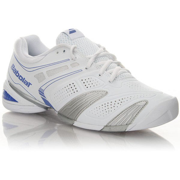 Babolat Womens V-Pro 2 Indoor Tennis Shoes - White/Blue