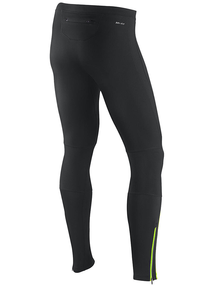 Nike Mens Element Thermal Tights Black Matte Silver