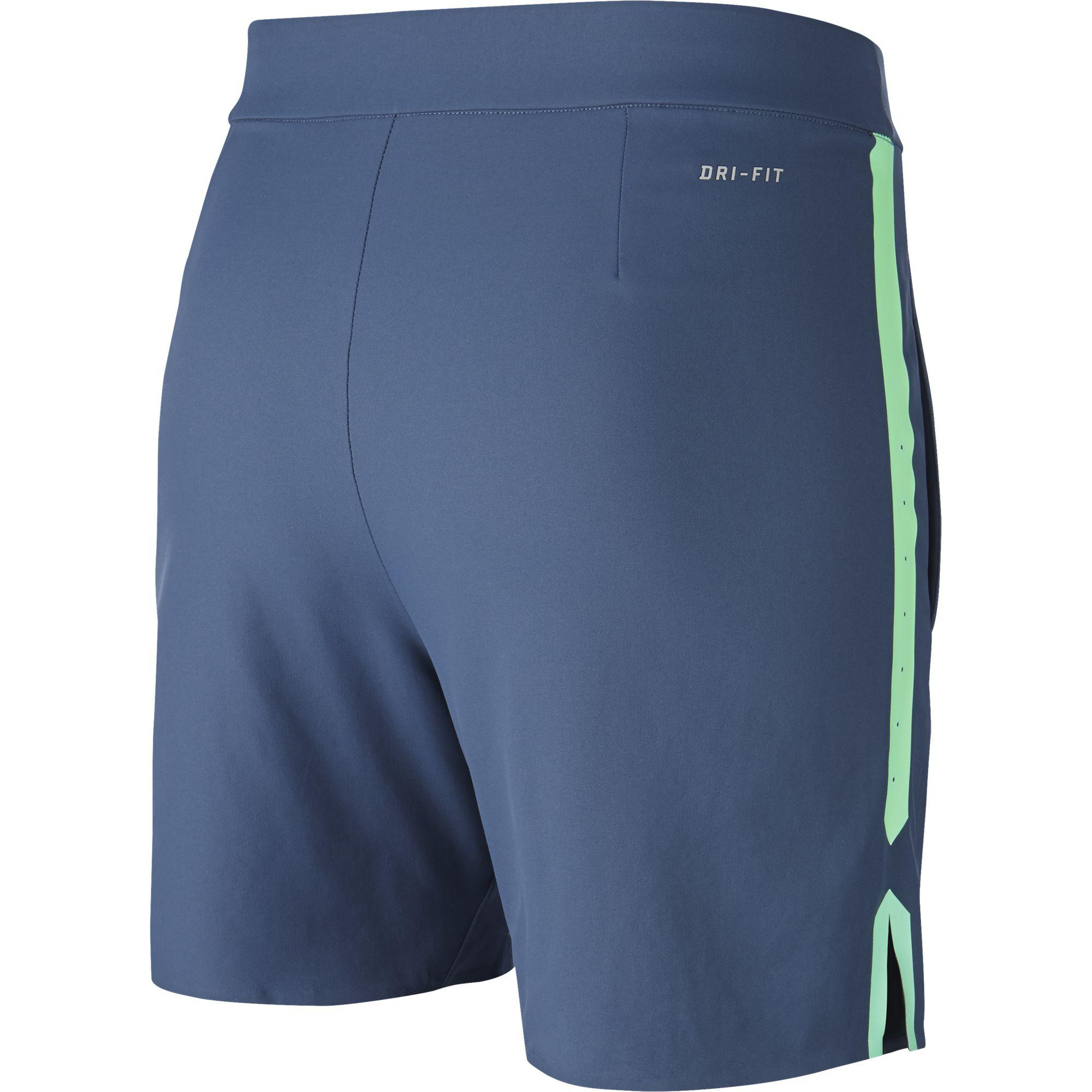 Nike Boys Gladiator Shorts - Squadron Blue/Green Strike ...