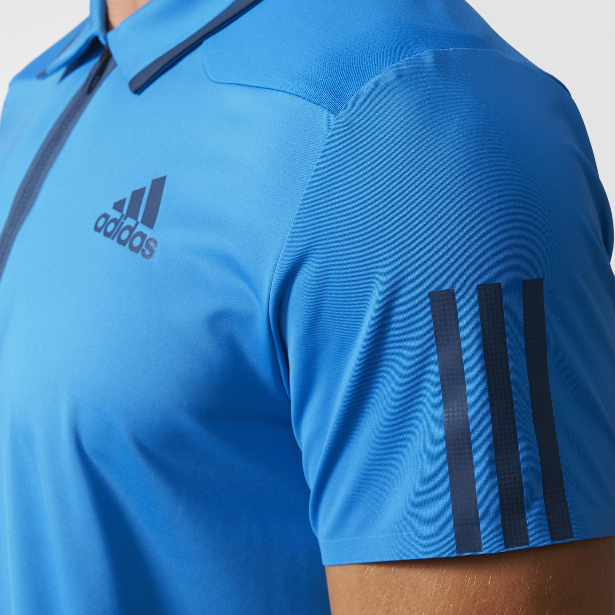 Adidas Mens Barricade Polo Blue