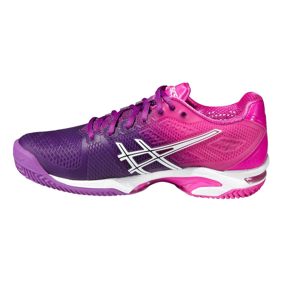 Asics Womens GEL Solution Speed 2 Clay Court Tennis Shoes - Purple