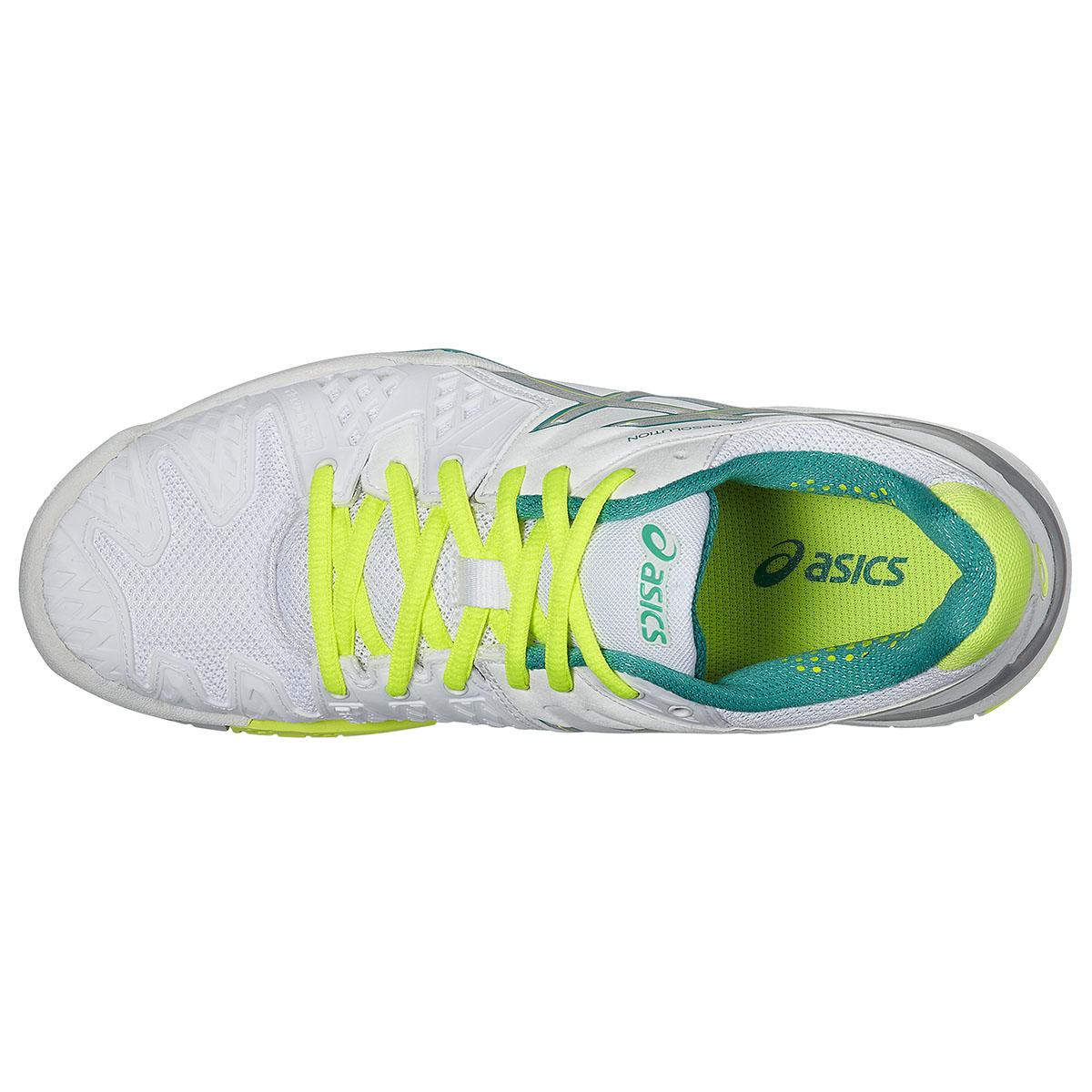 Asics Gel Resolution  White Emerald Womens Shoes