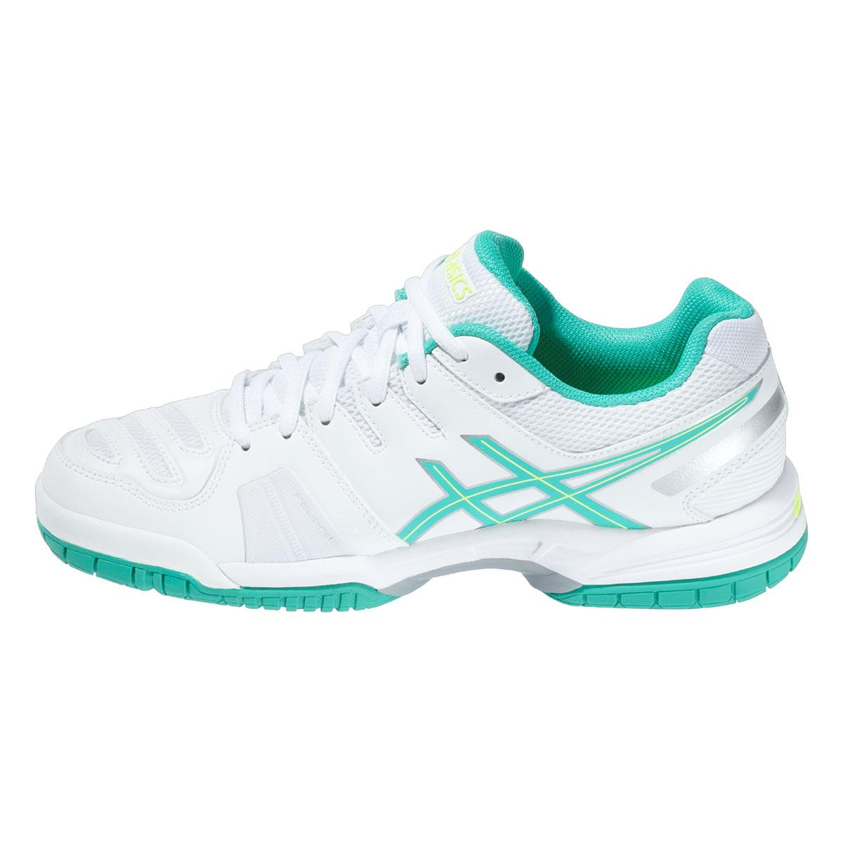 asics womens gel 5 oc tennis shoes white mint