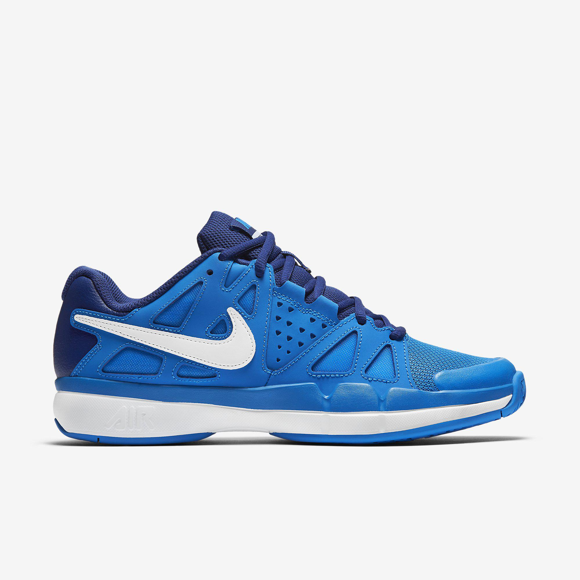 Nike White Blue Tennis Shoe
