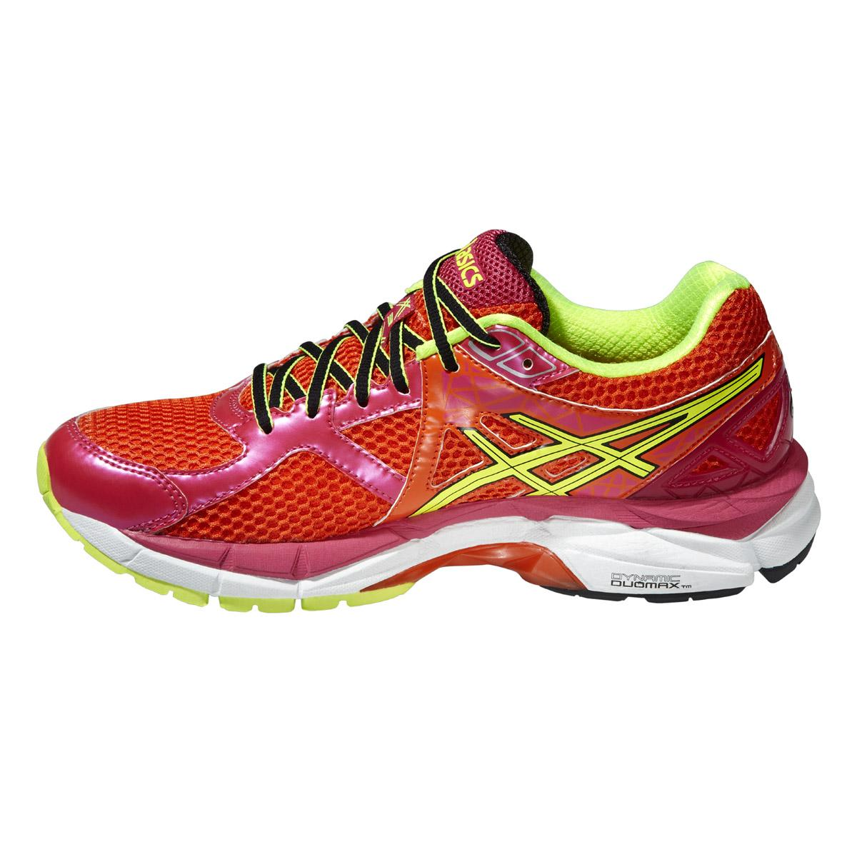 Asics Womens GT-2000 3 Running Shoes - Red/Yellow/Pink