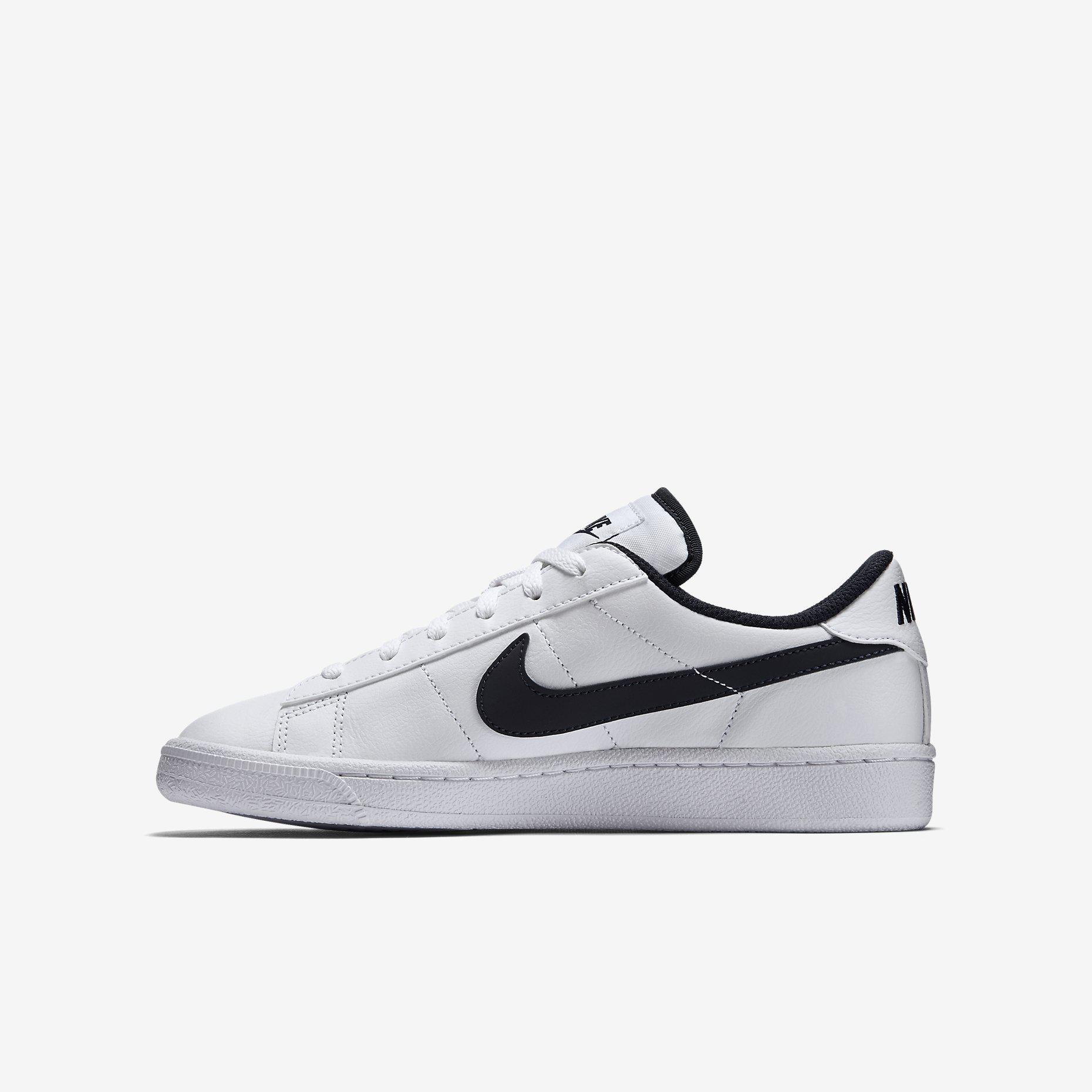 nike boys classic tennis shoes white obsidian