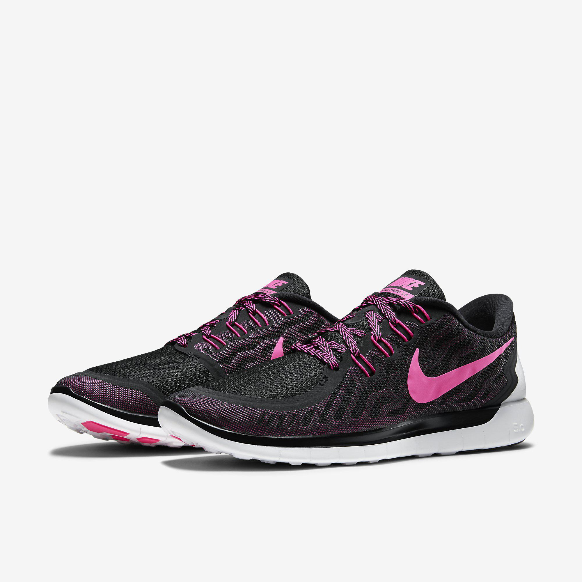 Pink And Black Nike Womens Running Shoes
