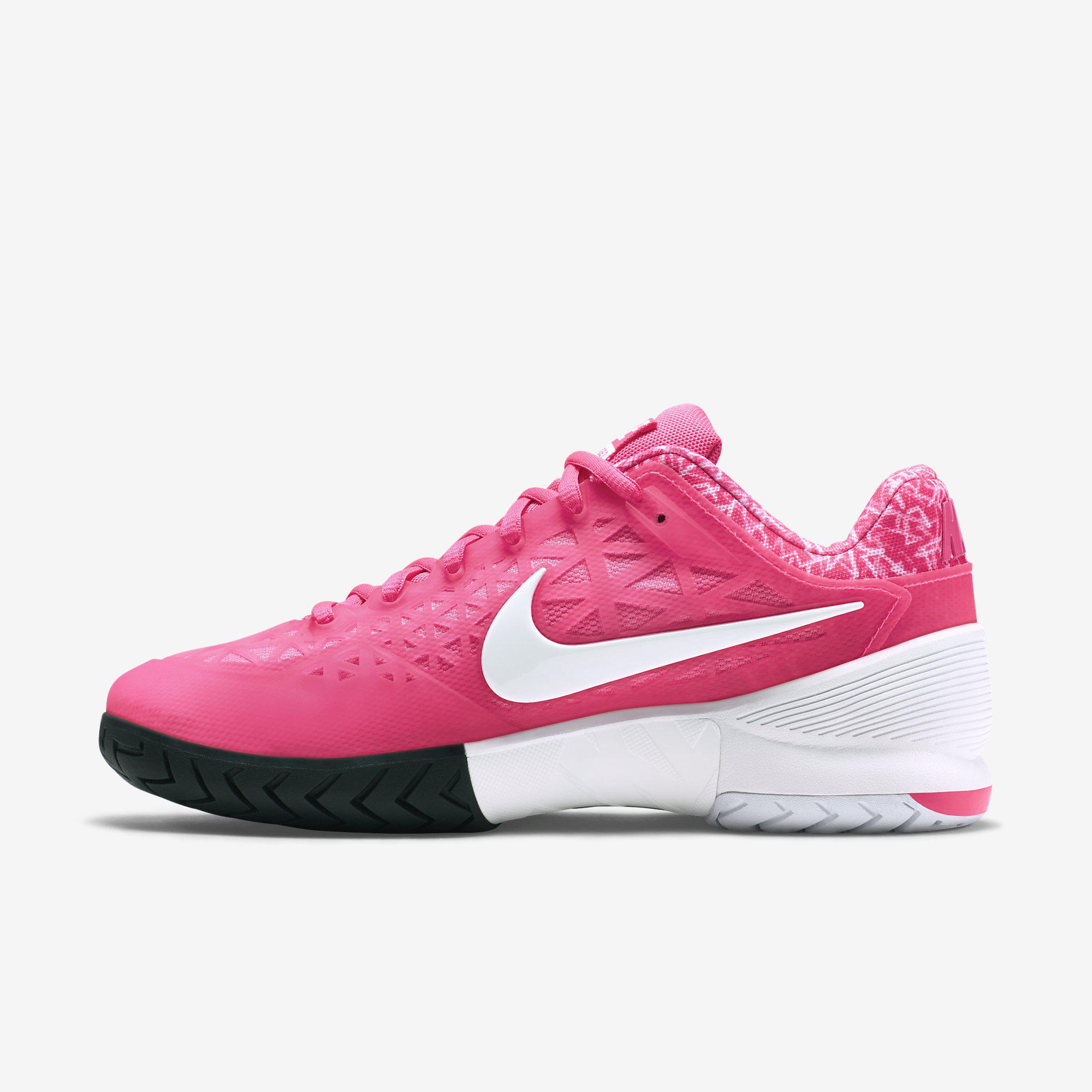 nike womens zoom cage 2 tennis shoes pink white