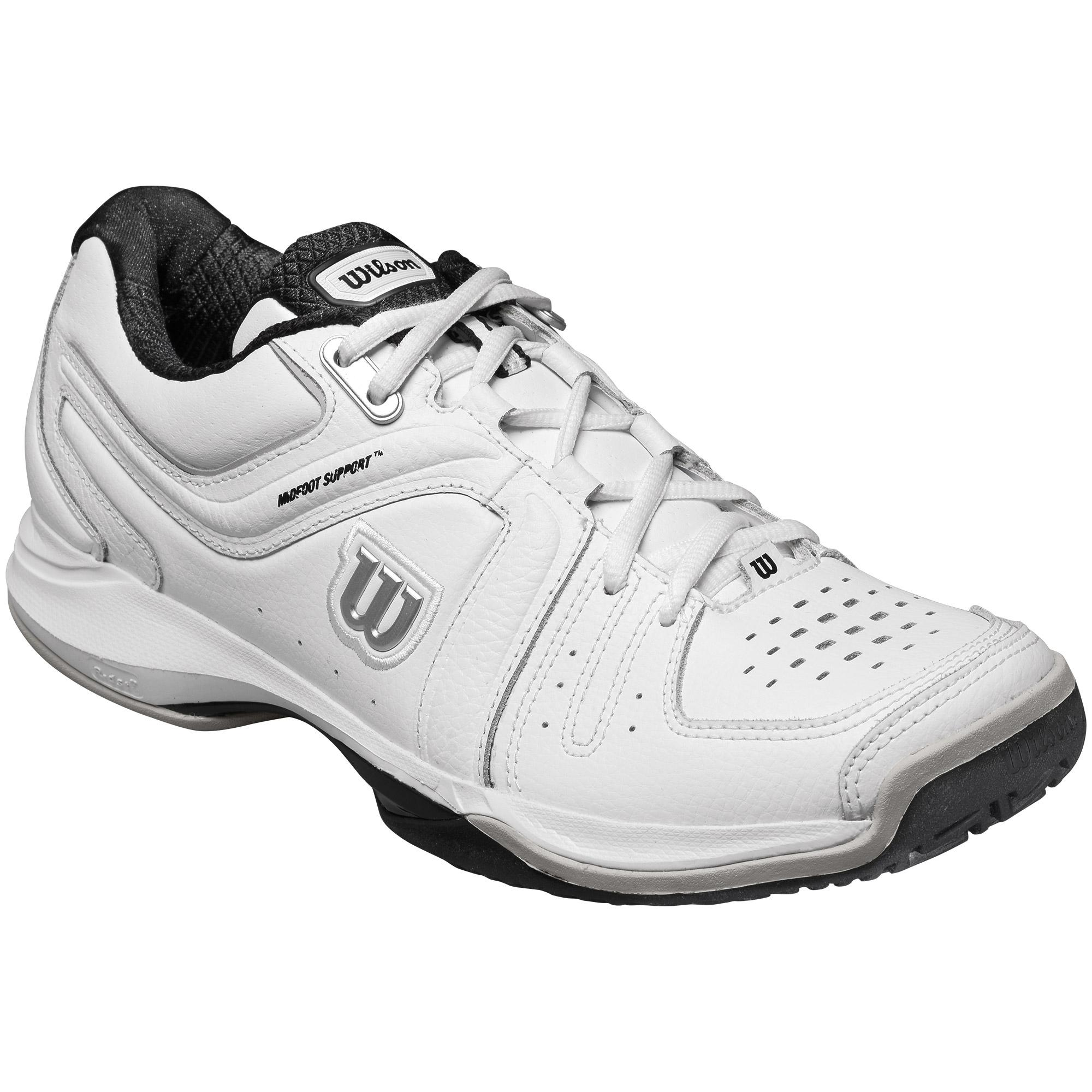 wilson mens nvision premium all court tennis shoes white