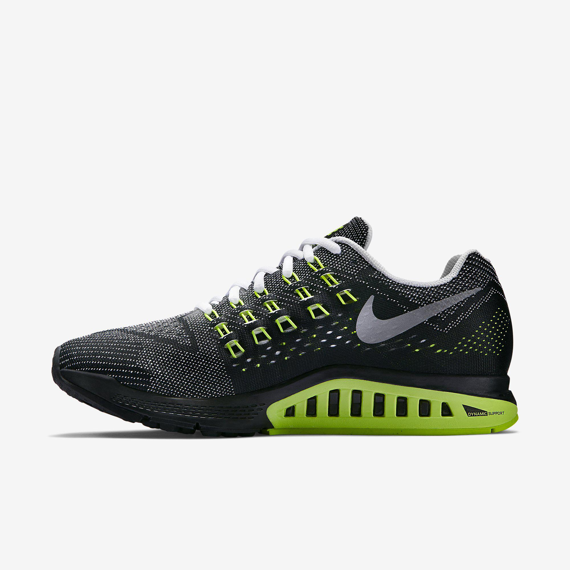 nike mens air zoom structure 18 wide fit running shoes