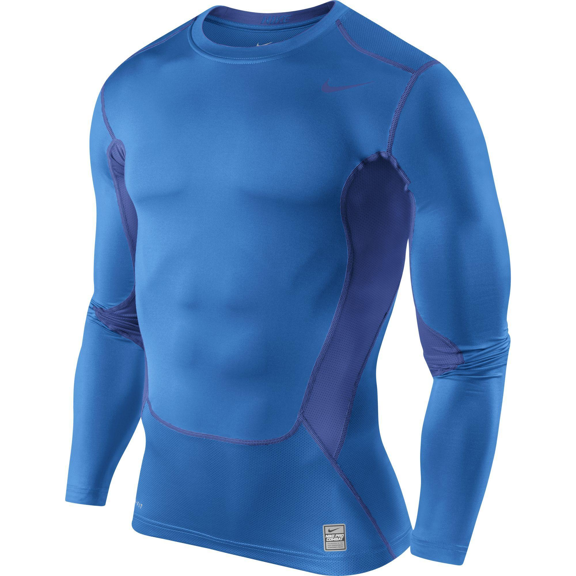 Nike Pro 2 0 Hypercool Compression Long Sleeve Top Blue