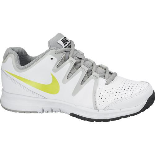 nike boys vapor court gs tennis shoes white green