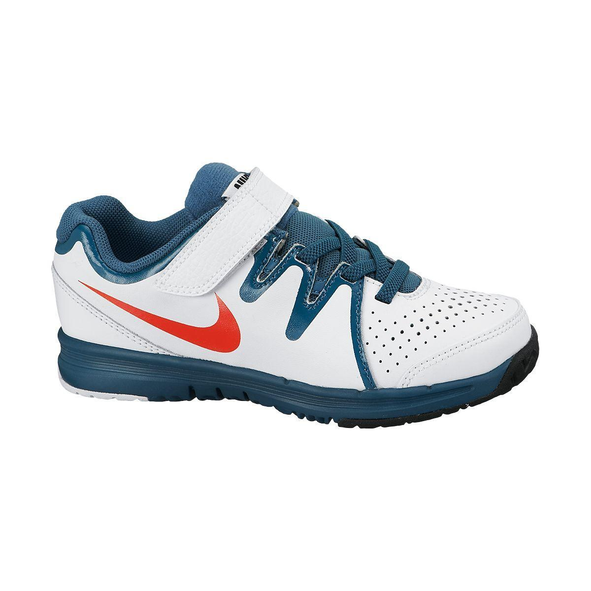 nike boys vapor court tennis shoes white blue