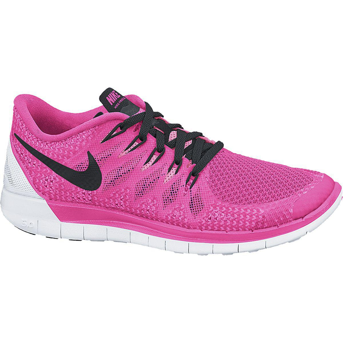 nike womens free 5 0 running shoes pink black
