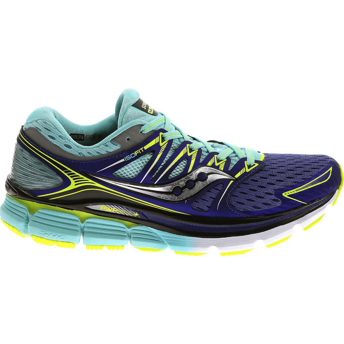 Saucony Womens Triumph ISO Running Shoes - Twilight/Oxygen/Citron
