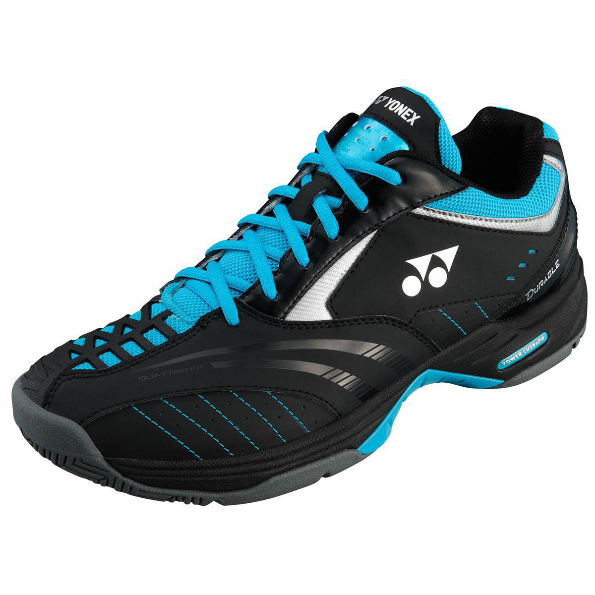yonex mens sht durable 2 tennis shoes black sky blue