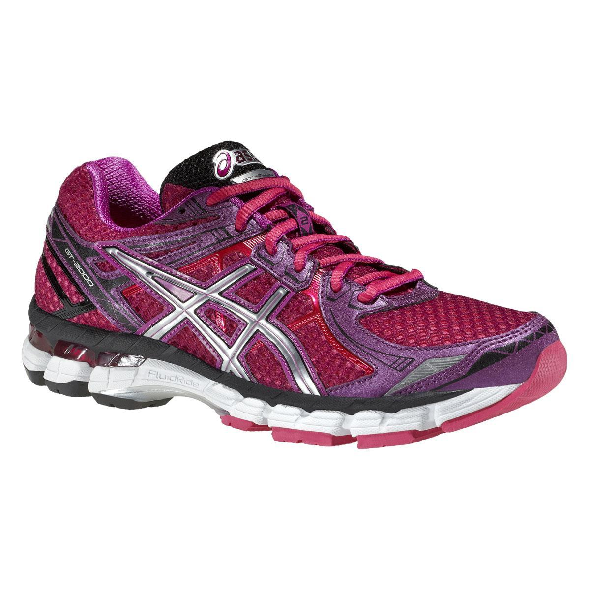 Asics Womens GT-2000 2 Running Shoes - Purple/Silver ...