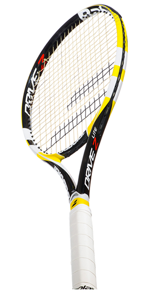 babolat new drive z lite tennis racket 2013 black yellow with full size cover ebay. Black Bedroom Furniture Sets. Home Design Ideas