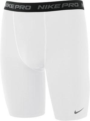 Nike Mens Pro Core 9 inch Compression Shorts - White/Black