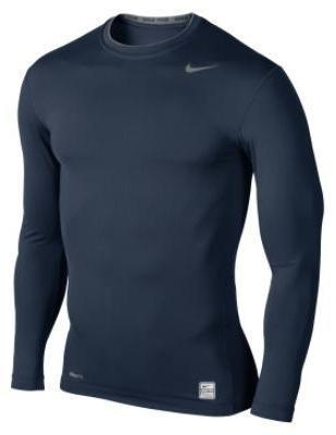 Nike Pro Core Long Sleeve Tight Crew- Navy/Grey