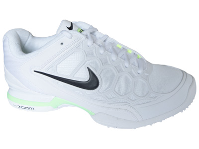 Nike Womens Zoom Breathe 2K11 Grass Court Tennis Shoes- White/Black/Liquid Lime