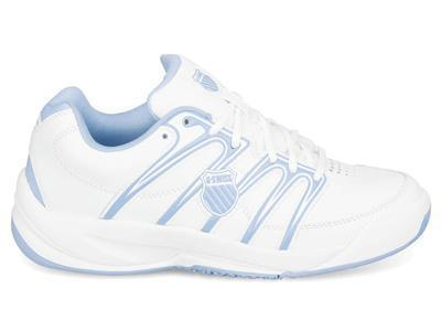 K-Swiss Kids Optim IV Omni Tennis Shoes- White/Soft Blue (Size 3-5.5)