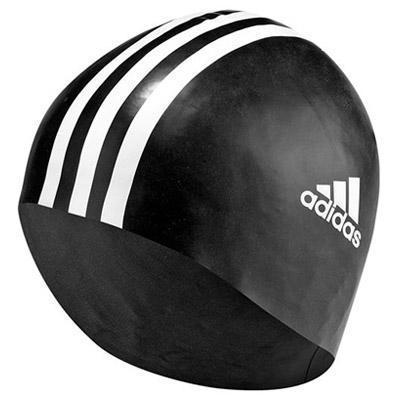 Adidas Junior Silicone Swimming Cap- Black/White