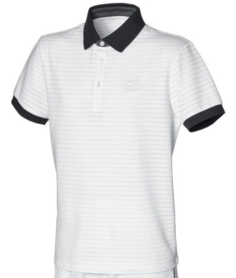 Lotto Mens Inspired Line Lawn Polo- White/Dark-Navy