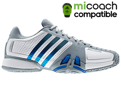Adidas Mens adiPower Barricade 7.0 OC (Omni) Tennis Shoes- White/Prime Blue