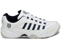 K-Swiss Mens Outshine Indoor Carpet Tennis Shoes- White/Black