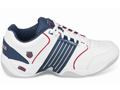 K-Swiss Mens Accomplish LS Indoor Carpet Tennis Shoes- White/Navy/Red