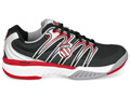 K-Swiss Mens BigShot Tennis Shoes- Black/F1 Red