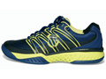 K-Swiss Mens BigShot Tennis Shoes- Navy/Optic Yellow