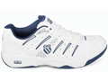 K-Swiss Mens Outshine All Court Tennis Shoes- White/Navy