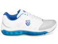 K-Swiss Mens Tubes Tennis 100 Tennis Shoes- White/Blue