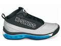 K-Swiss Mens Tubes Monfils Mid Tennis Shoes- Black/Blue/Silver