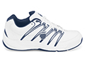 K-Swiss Mens Optim IV Tennis Shoes- White/Navy