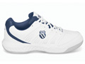 K-Swiss Mens Ultrascendor Indoor Carpet Tennis Shoes- White/Navy/Silver