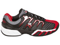 K-Swiss Mens BigShot II Tennis Shoes- Black/Fiery Red/Charcoal