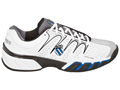 K-Swiss Mens BigShot II Tennis Shoes- White/Gull Grey/Blue
