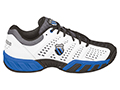 K-Swiss Mens BigShot Light Tennis Shoes- White/Black/Brilliant Blue