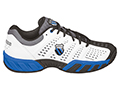 K-Swiss Mens BigShot Light Omni Tennis Shoes- White/Black/Brilliant Blue