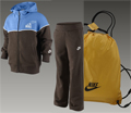 Nike Little Boys Warm-Up Tracksuit Gift Pack- Dark Chocolate/Blue