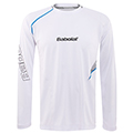 Babolat Mens Performance Long Sleeve Tee- White
