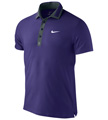 Nike Mens RF Hard Court Masters Polo- Court Purple/Seaweed/White