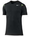 Nike Mens Rafa Power Court Crew- Black/Volt