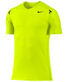 Nike Mens Rafa Power Court Crew- Volt/Black